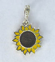 Sunflower Pendant (sterling silver)