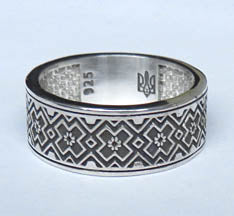 Embroidery Sterling Silver Ring