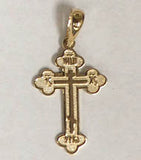 "Small Ornate Cross (14K, 0.8"")"