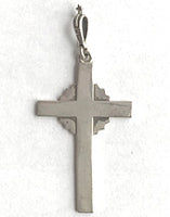 Silver Starburst Cross 1 1/2""