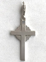 Silver Starburst Cross 1 1/4""