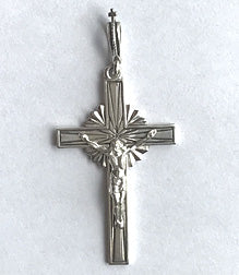 Silver Crucifixion Cross 1 3/4""
