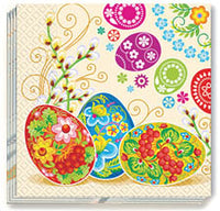 Petrykivka Design Easter Napkins 13x13 in.