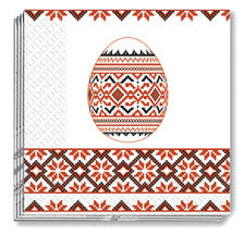 Red Pysanka Embroidery Napkins (50)