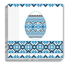 Blue Pysanka Embroidery Napkins (50)