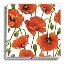 Poppies Cocktail Napkins 9.5x9.5 in.