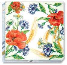 "Field Flowers - Dinner Napkins 13"" x 13"""