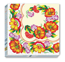 Ukrainian Poppies Napkins 13x13 in