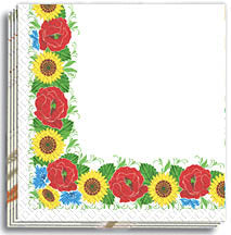 Poppy-Sunflower Frame 13x13 in Dinner Napkins (50)