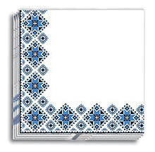 Blue Vyshyvanka Dinner Napkins 13x13 in.