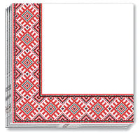 RED EMBR NAPKINS 13x13 in. (50)
