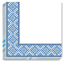BLUE EMBR NAPKINS 13x13 in. (50)
