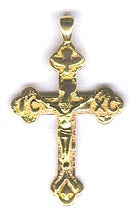 Crucifix Orthodox 14K
