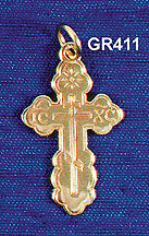Orthodox Cross - 14K Medium
