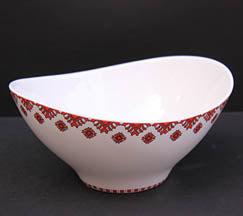 Small Triangular Wave Bowl -  8.5x7.5x4.5 in.