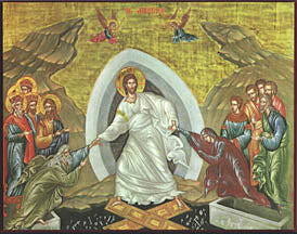 Resurrection Icon, 8 x 10 in