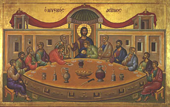 Mystical Supper Icon, 8 x 10 in