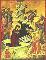 Nativity of the Lord Icon, 8 x 10 in
