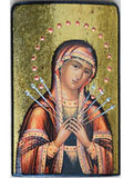 Virgin Mary - Seven Arrow Icon 3 x 4.5 in