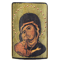 Bilozerska Virgin Icon - 3 x 4.5 in