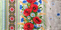 Large Poppies Printed Dish Towel