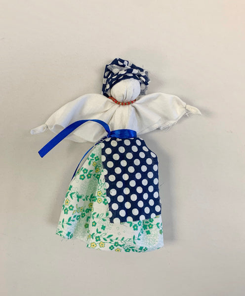 Traditional Motanka Doll in Blue