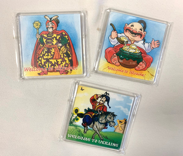 Set of 3 Kozak Magnets - #1