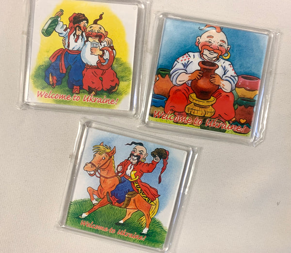 Set of 3 Kozak Magnets - #2