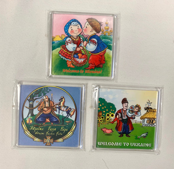 Set of 3 Ukrainian Folk Magnets