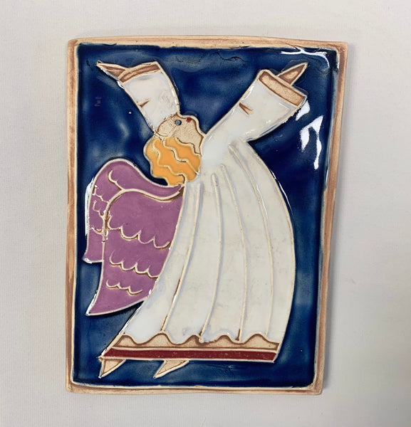 Ceramic Angel Plaque