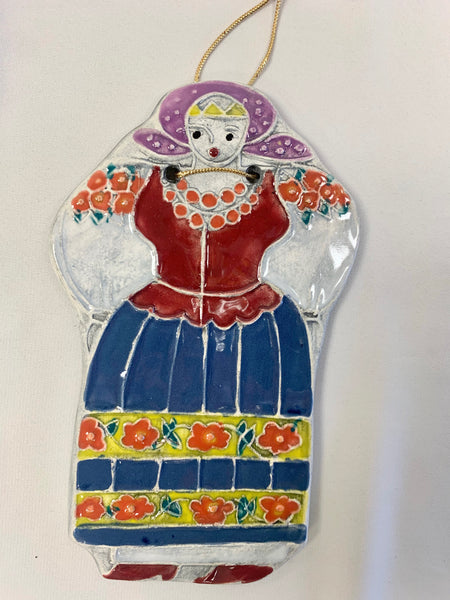 Girl in Costume Plaque #4
