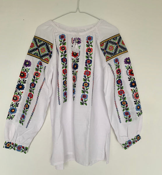 Colorful Floral Embroidered Blouse