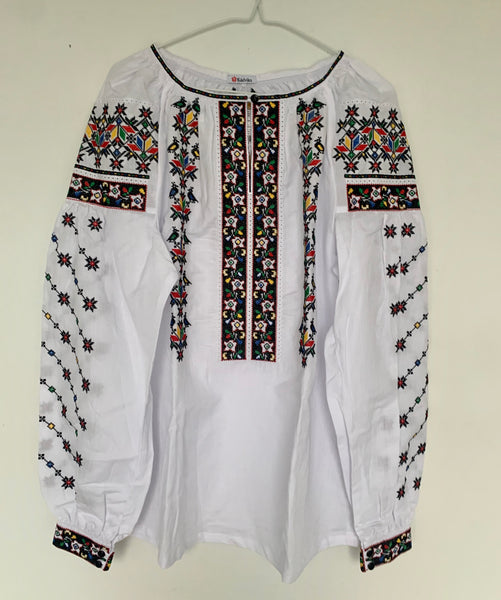 Colorful Embroidered Blouse