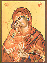 Virgin Mary Theotokos Glykophiloussa Byzantine Icon