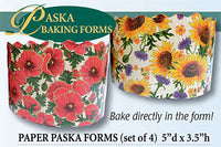 Poppy and Sunflower Paska Forms (set of 4)