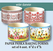 Large Paska Baking Forms (set of 6) 6x4 in.