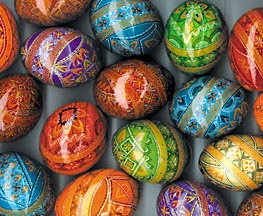 Kosiv Painted Wooden Pysanky