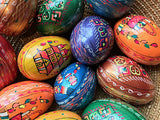 WOODEN EGGS in Easter themes - 1 DOZEN
