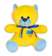 Ukraine Teddy Bear In Yellow