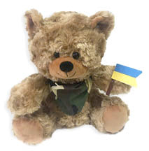 SLAVA UKRAJINI Plush Bear 8.5 in