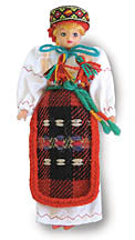 Hutsul Girl Doll Ornament  6.5 in.