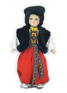 Ukrainian Boy Doll in Folk Costume (small)