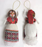Motanka doll ornament-red 6 in.