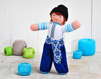 Ukrainian Knit Boy blue 12 in.