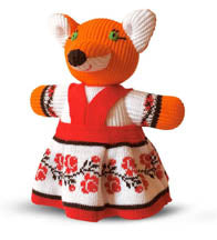 Knitted Fox Toy