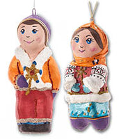 Carollers - Set of 2 ornaments