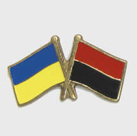 Ukraine Two Flags Pin