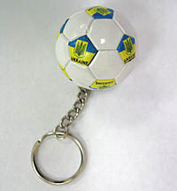 Ukraine Soccer Ball Keychain with Trident