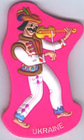 Fiddle Player Magnet PVC