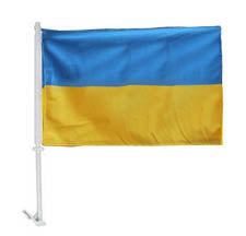 Extra Heavy Ukrainian Car Flag - 1-Sided, Plain
